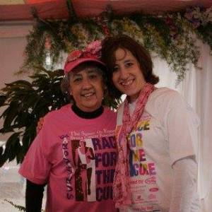 My mom and me at the Race for the Cure